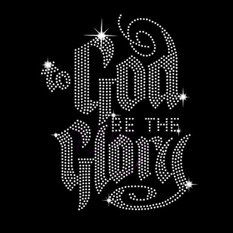 "To God Be the Glory (7.5x10"") Rhinestone Bling Shirt - Bling By Bates"