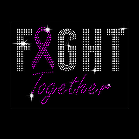 "Fight Together (6.75x9.5"") Rhinestone Shirt - Bling By Bates"