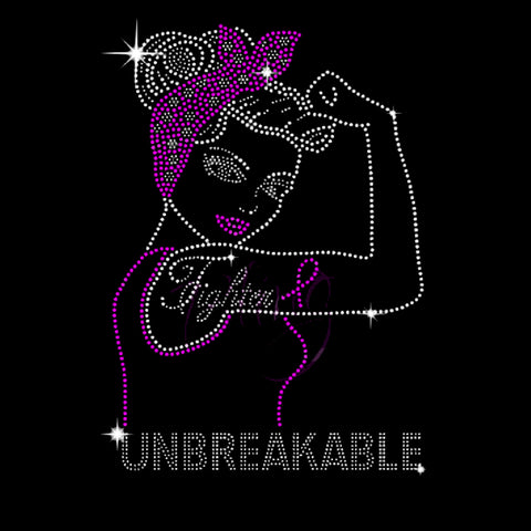 "Fighter Unbreakable (11.5x8"") - Bling By Bates"