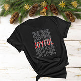 Joyful Mirror Word (Glitter, Plain or Metallic Vinyl) Shirt - Bling By Bates