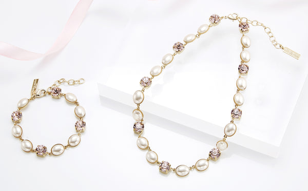 Efti Pearl Swarovski Necklace