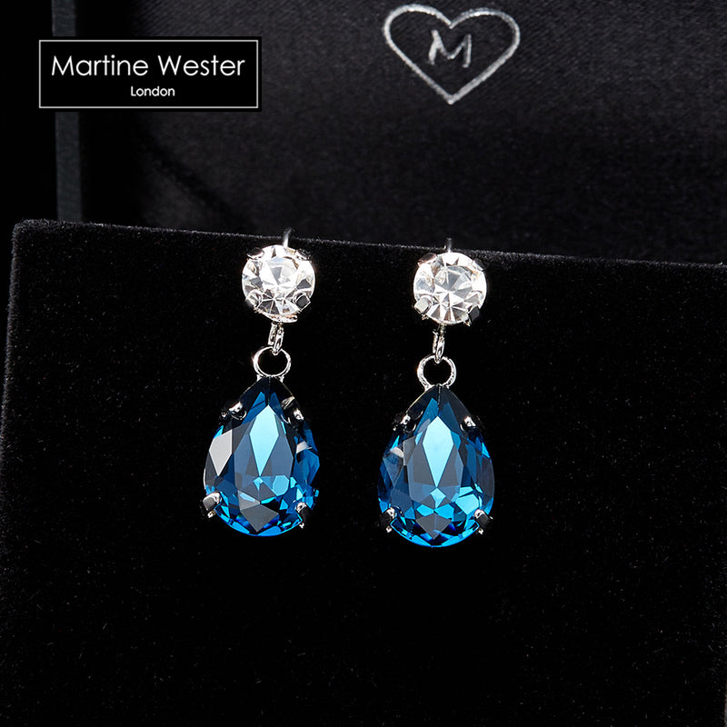 Swarovski Teardrop Dangle Earrings