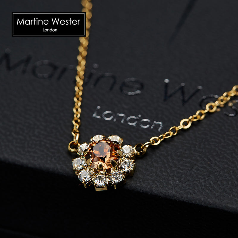 Monroe Flower Gemstone Necklace