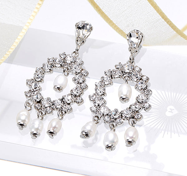Indian Bride Freshwater Earrings