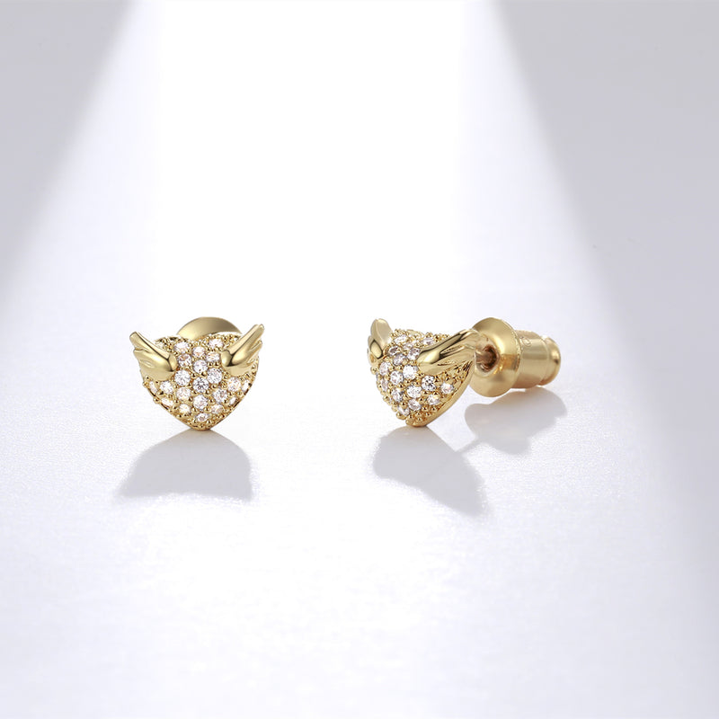 Flying Heart Stud Earrings