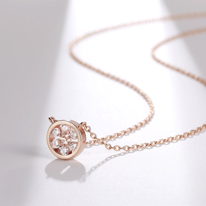 Lucky Wheel Zircon Necklace