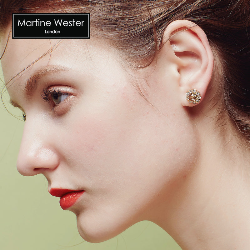 Monroe Swarovski Stud Earrings