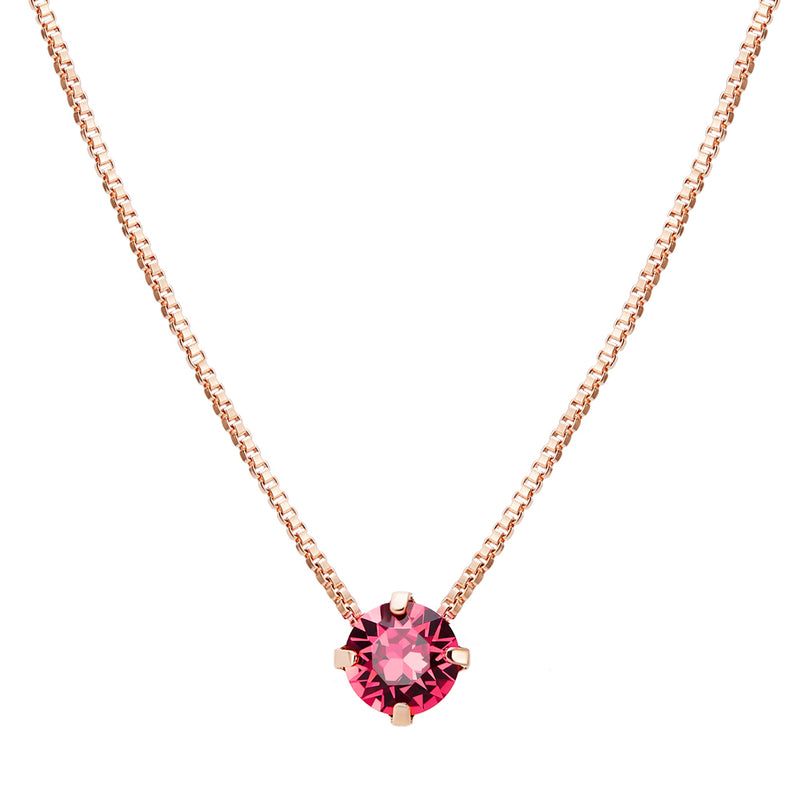 Crystal Solitaire Pendant Necklace