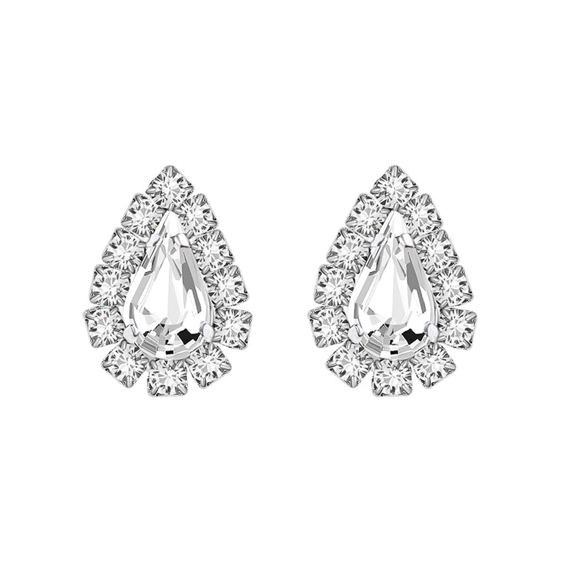 Graceful Platinum Swarovski Earrings
