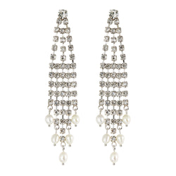 Beauty Pearl Tassel Earrings