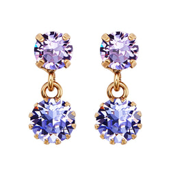 Violet Garden Drop Earrings