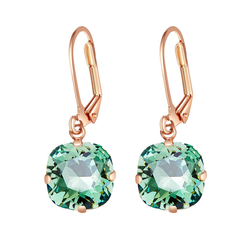 Swarovski Leverback Drop Earrings