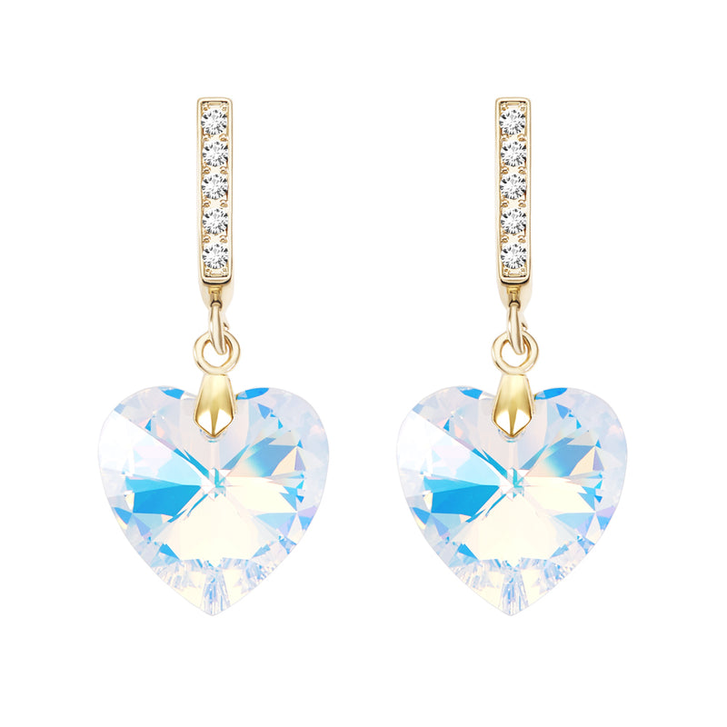 Ocean Heart Crystal Earrings
