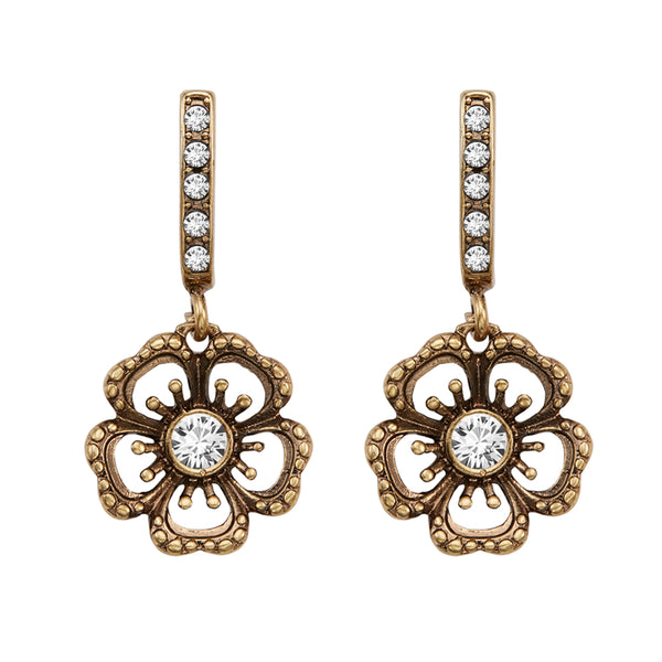 Vintage Flower Dangle Earrings