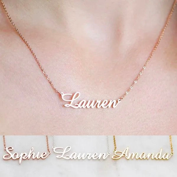 Personalized Cursive Name Necklace