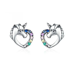 Unicorn Multi-Colored Stud Earrings