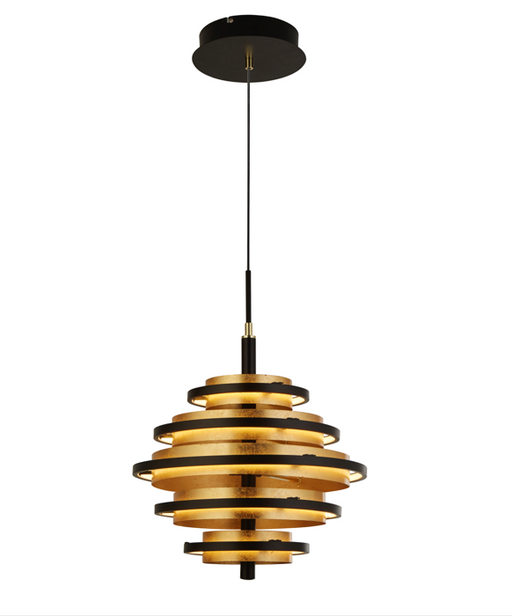 Hive Black / Gold Leaf Led Pendant