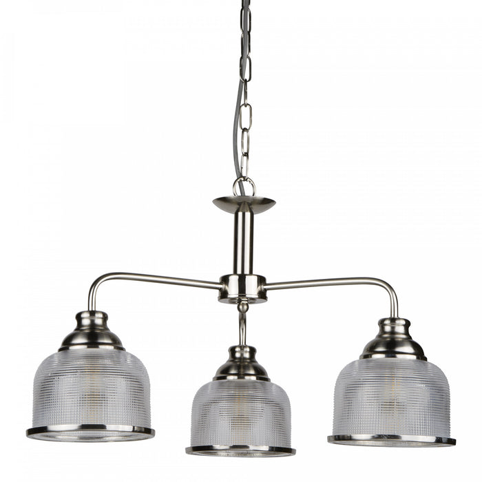 Bistro II - 3 Lights Ceiling Satin Silver
