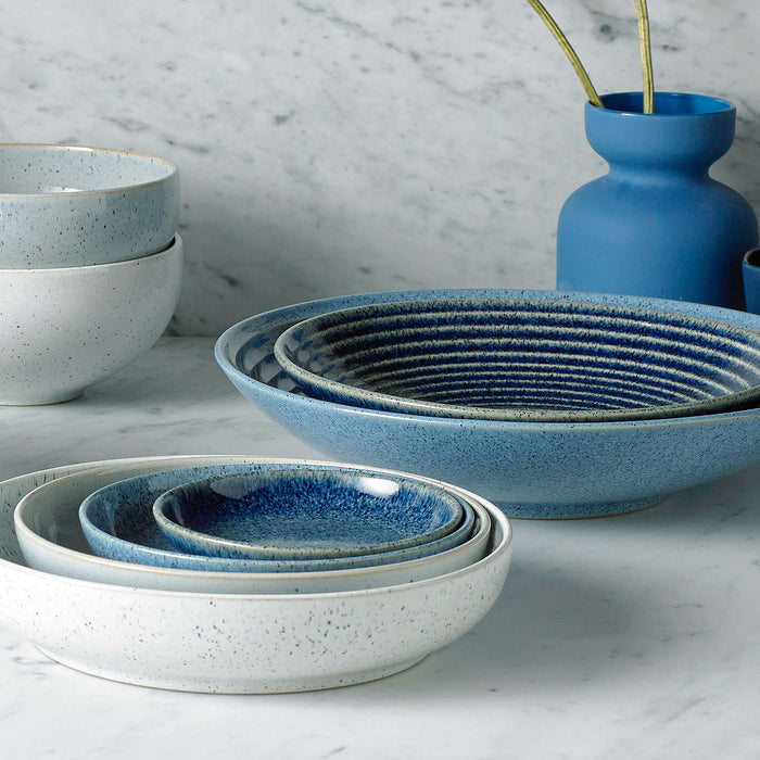 Studio Blue Medium Ridged Bowl