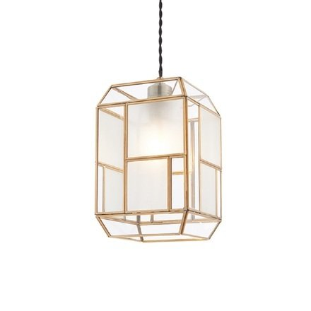 Chatsworth Non Electric Shade In Solid Brass With Clear And Frosted Glass