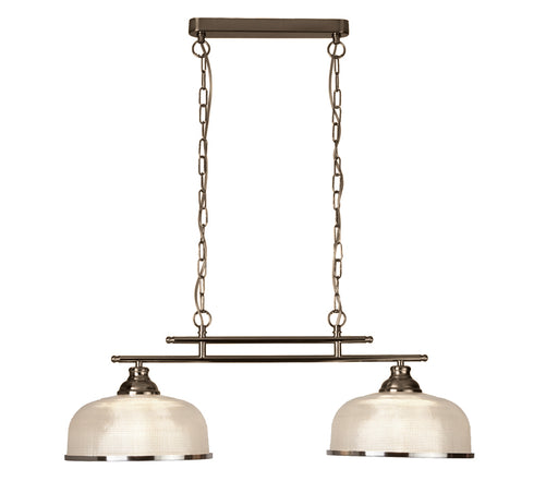 Bistro II - 2 Lights Ceiling Bar Antique Brass
