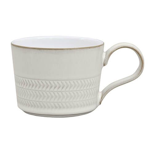 Natural Canvas Textured Tea/Coffee Cup