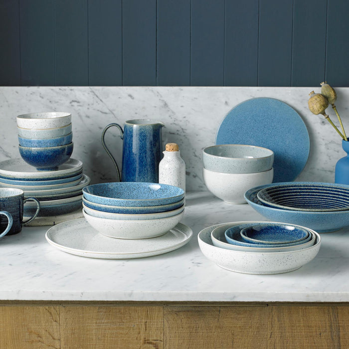 Studio Blue 4 Piece Coupe Dinner Plate Set