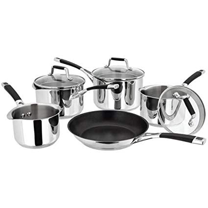 5 Piece Stainless Steel Saucepan Set