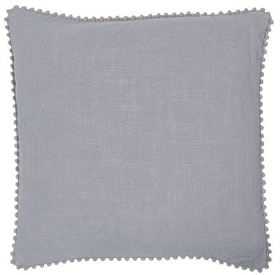 Emma Grey Pom-Pom Cushion