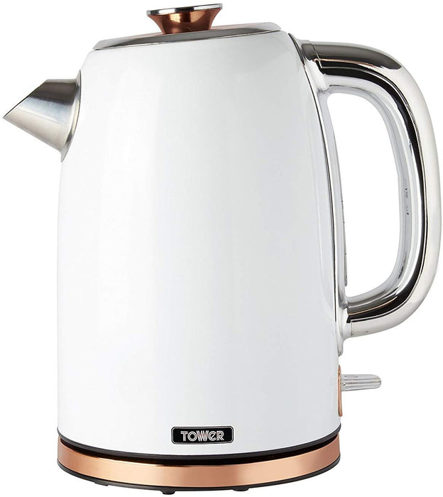 White and Rose Gold Kettle