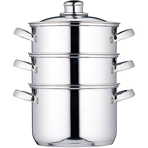 MasterClass Stainless Steel Three Tier Steamer