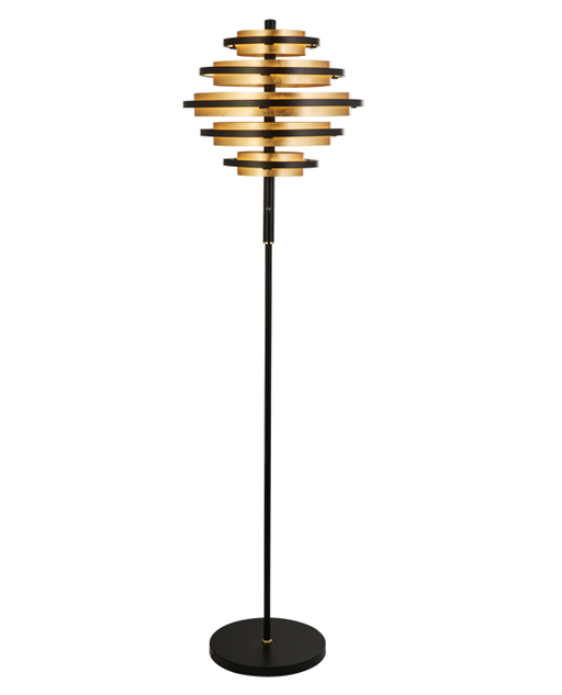 Hive Black / Gold Leaf LED Floor Lamp