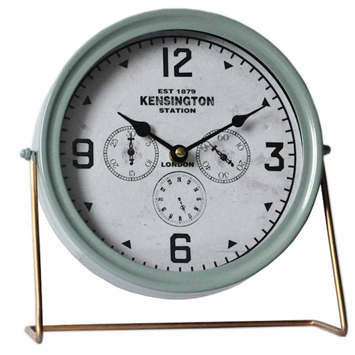 Vintage Style Green Mantle Clock