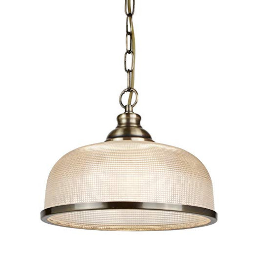 Bistro II - 1 Light Pendant Antique Brass