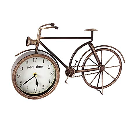 Hometime Metal Mantel Clock - Vintage Style Bicycle