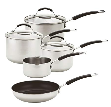 5pc S/Steel Induction Saucepan Set