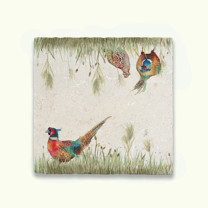 Pheasant In Grass Large Platter