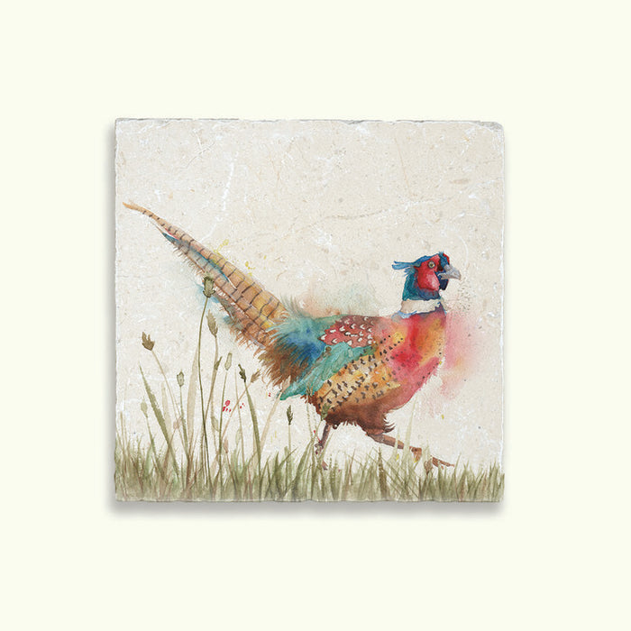 Pheasant In Grass Medium Platter