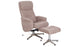 Sand Rayna Recliner with Footstool