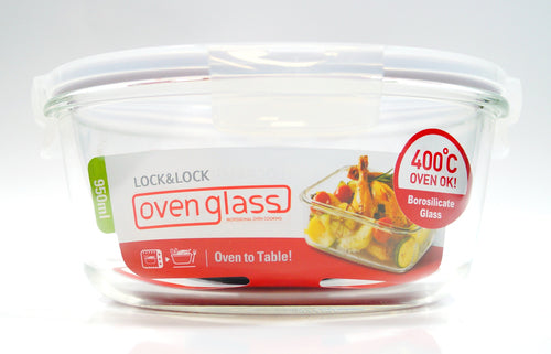 L&L Round Oven Glass Dish 950ml