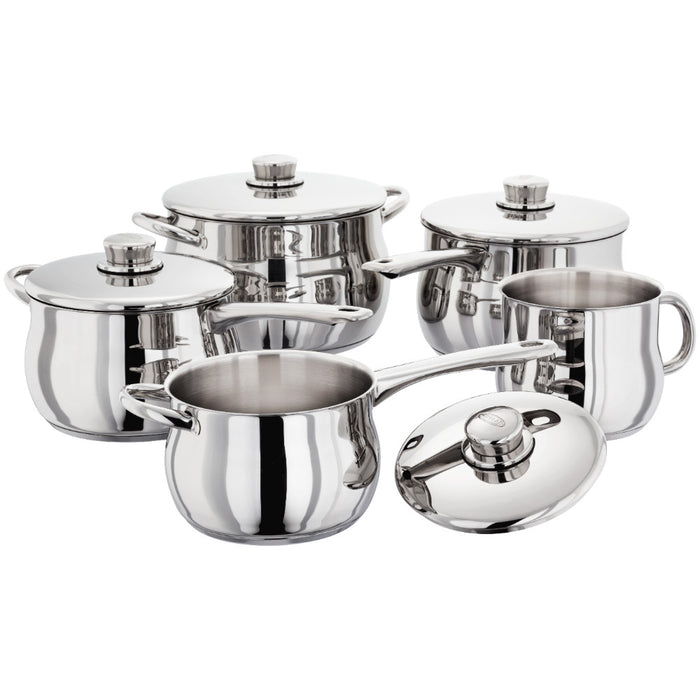 Deep 5 Piece Saucepan Set