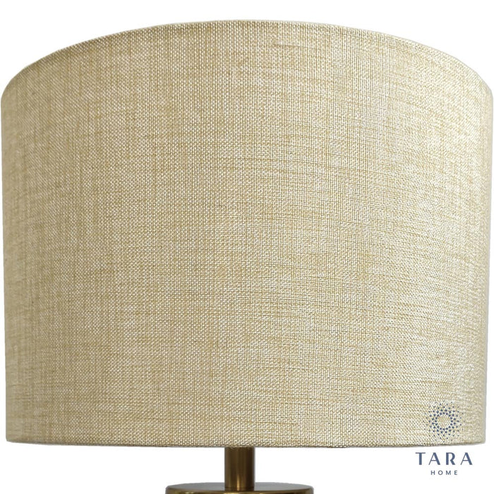 Jane Glass Bronze/Gold Cylinder Lamp 54cm
