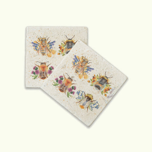 British Collection Bee's Coasters
