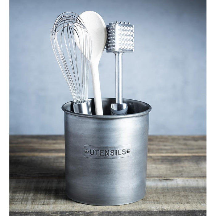 Industrial Kitchen Vintage - Style Metal Utensil Holder