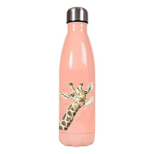 'Flowers' Giraffe Water Bottle
