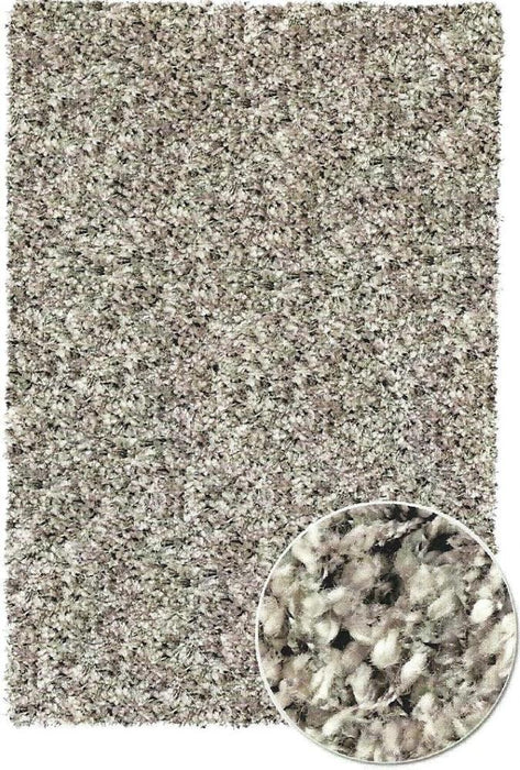 Silver Shaggy Lounge Rug