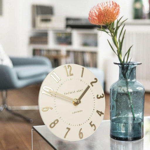 Mulberry Ivory Champagne Mantel Clock