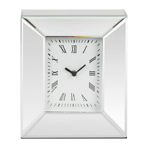 Mirror Rectangular Mantel Clock