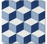 Geometric Square Placemats Set of 6
