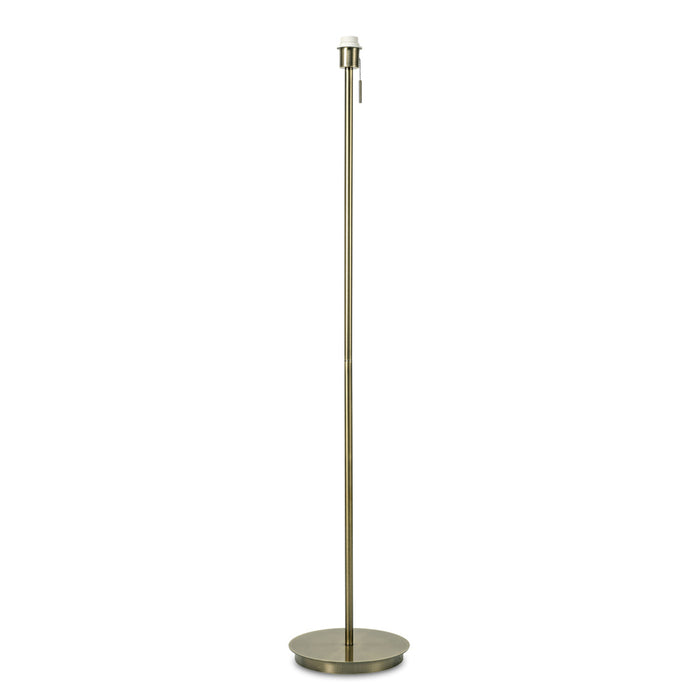 Carlton Round Flat Base Floor Lamp Without Shade Antique Brass